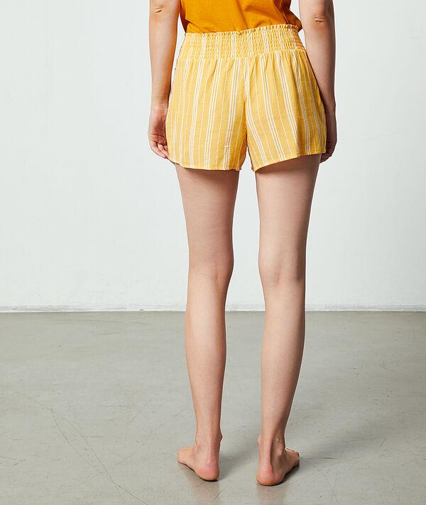 Pantalón corto estampado de rayas;${refinementColor}