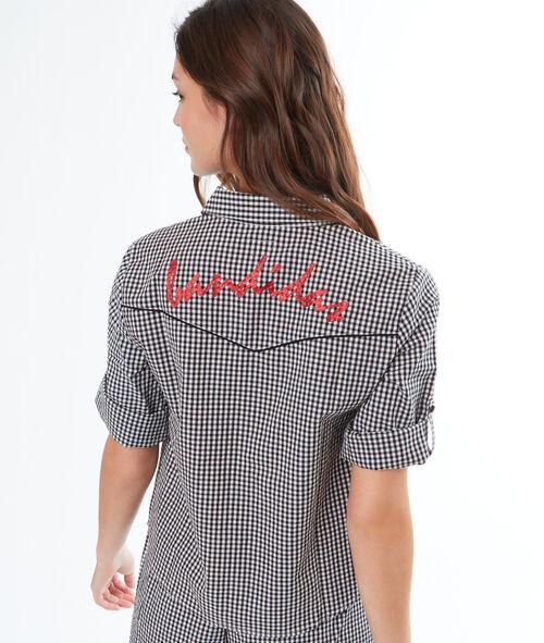 Camisa pijama estampado cuadros Vichy