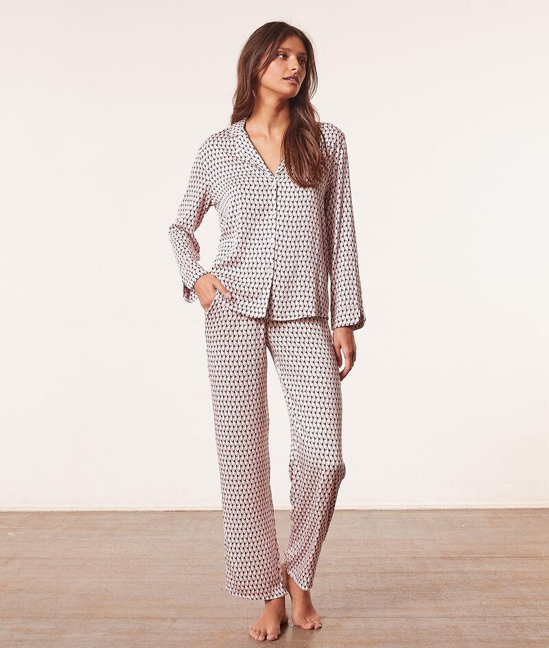 Camisa pijama estampada;${refinementColor}