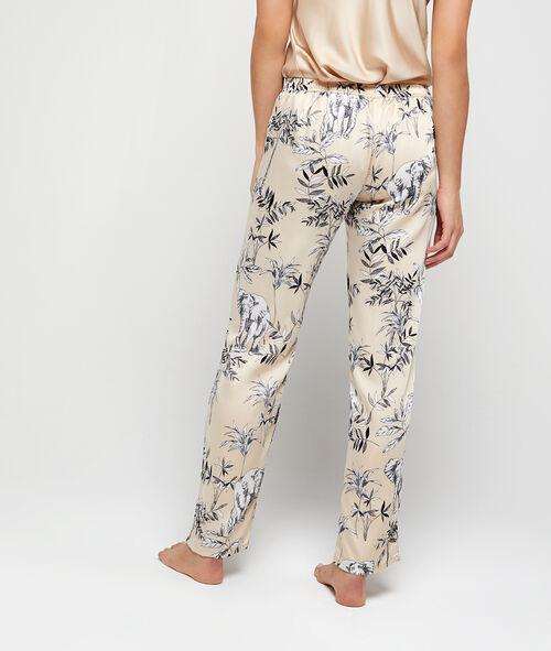 Pijama 3 piezas satinado