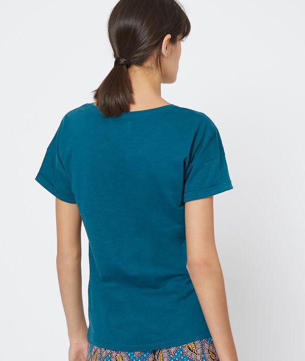 Camiseta con mensaje estampado