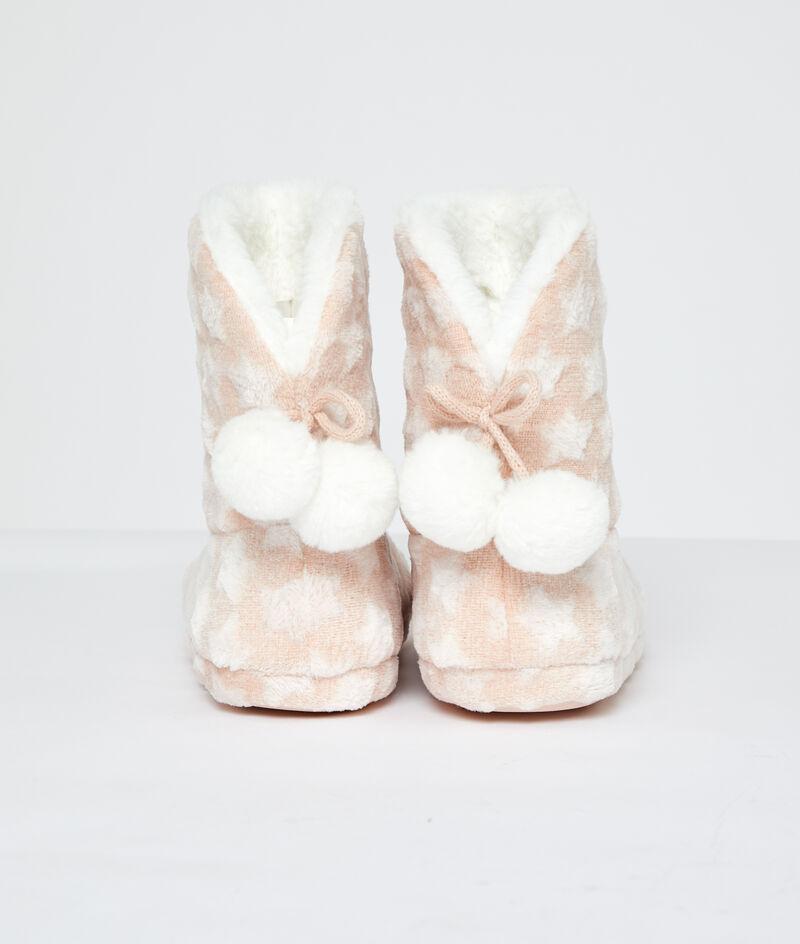 Zapatillas tipo botines estampado estrellas;${refinementColor}