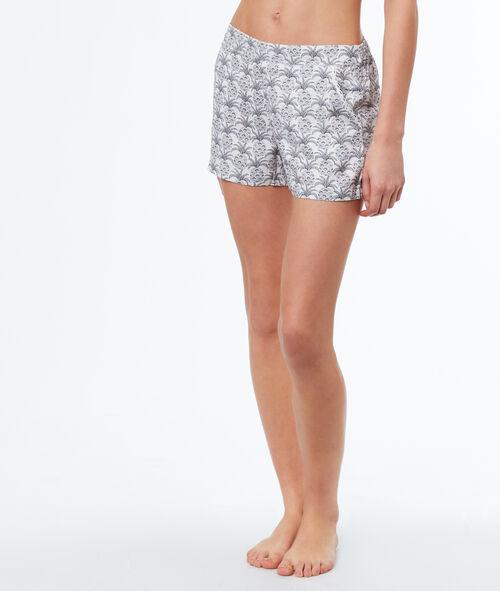 Pantalón corto estampado piñas