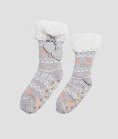 Calcetines motivos navideños c.gris.