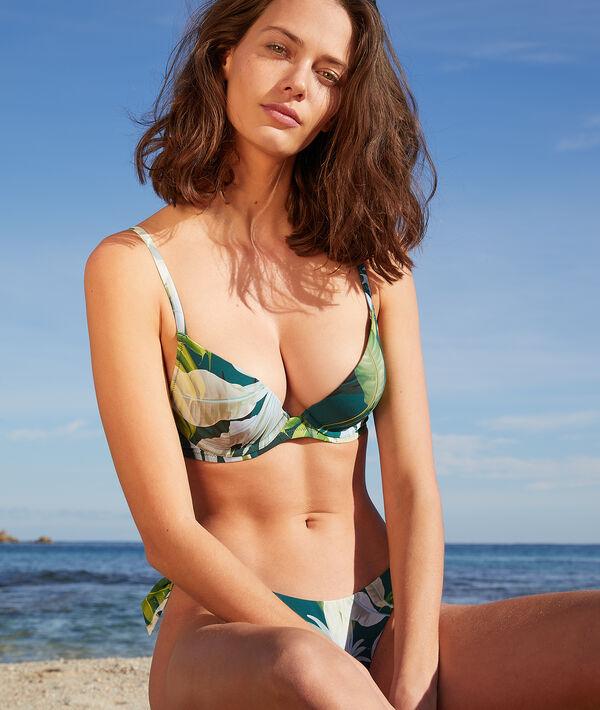 Sujetador bikini push up estampado tropical. Copa B-C;${refinementColor}