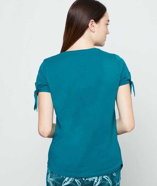 Camiseta dibujo tropical;${refinementColor}