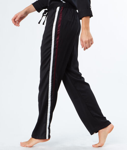 Pantalón franja contrastada