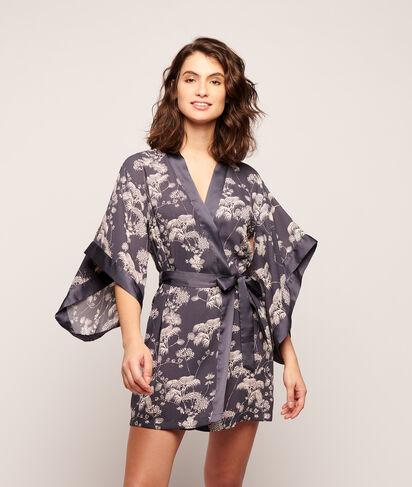 Kimono de satén estampado floral;${refinementColor}