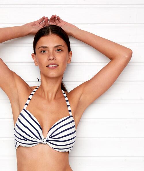 Sujetador bikini con foam estilo marinero. Copa B-D