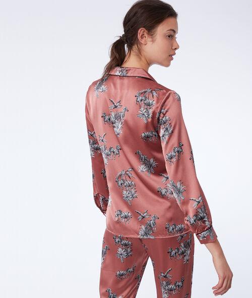 Camisa pijama estampado cebras