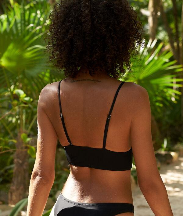Sujetador bikini triangular estilo corsé