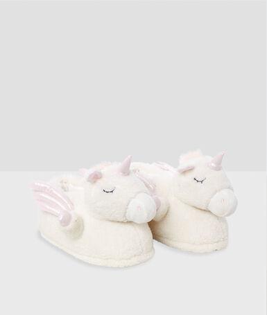 Zapatillas unicornio crudo.