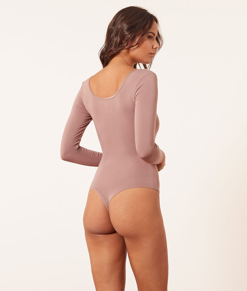 Body manga larga, tejido térmico;${refinementColor}