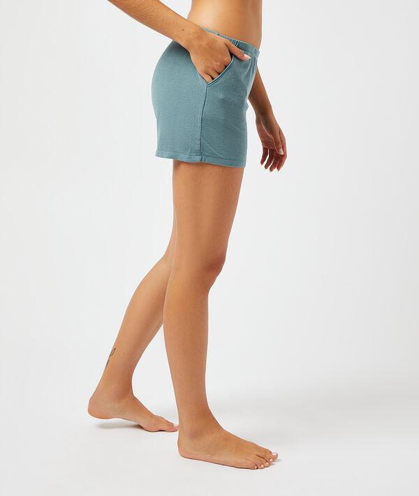 Pantalón corto, tejido canalé;${refinementColor}