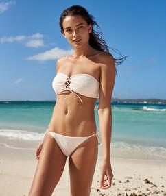 Braguita bikini tiras laterales rosa pálido.