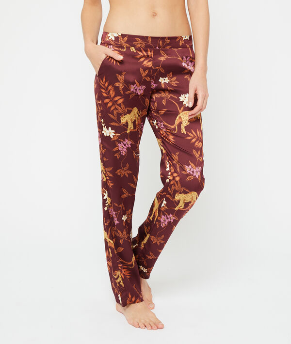 Pantalón pijama estampado leopardo