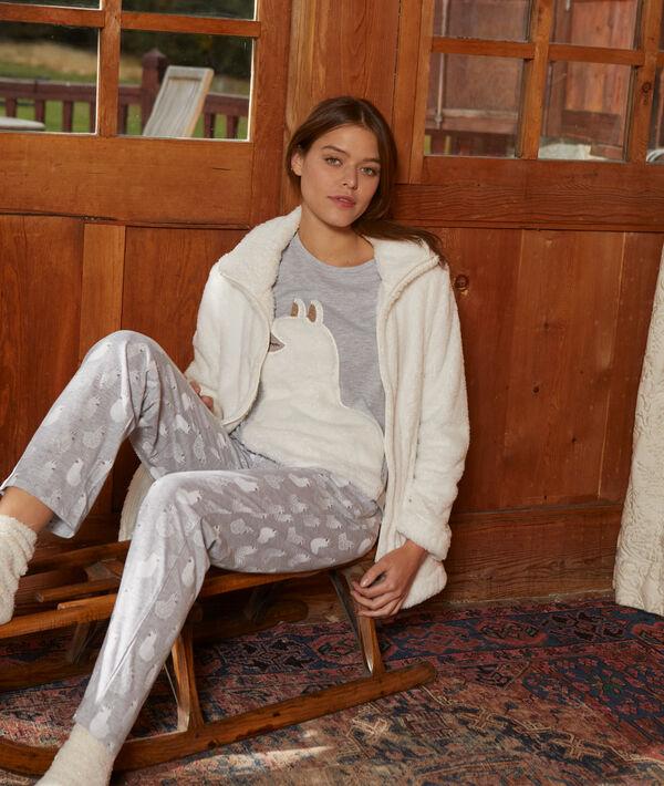 Pijama 3 piezas llama