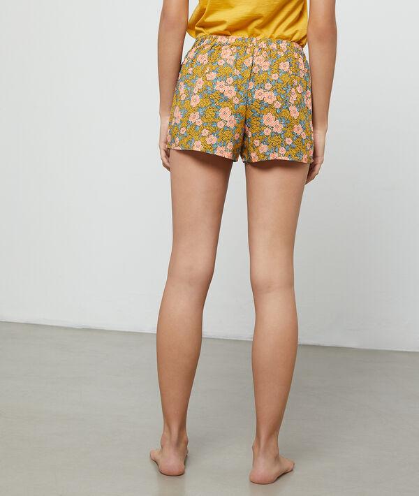 Pantalón corto estampado floral