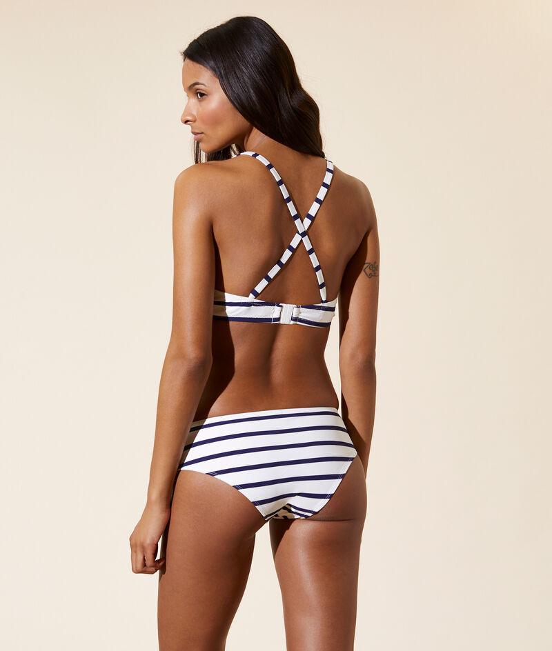 Sujetador bikini con foam, rayas marineras. Copa B-E;${refinementColor}