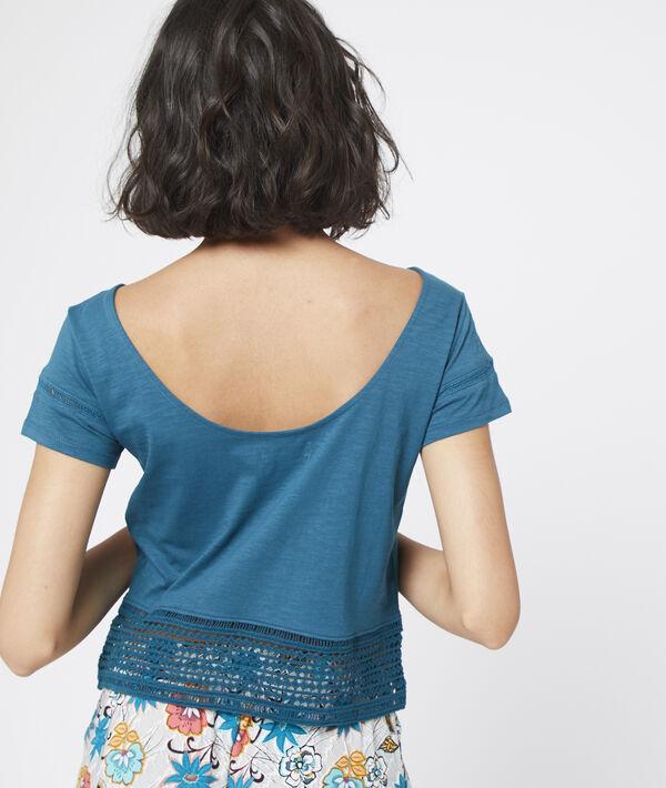 Camiseta de algodón y motivos de encaje