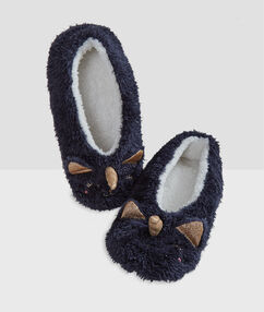 Zapatillas unicornio azul c.gris.
