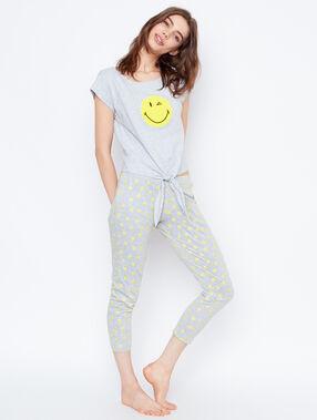 Camiseta estampada smiley c.gris.