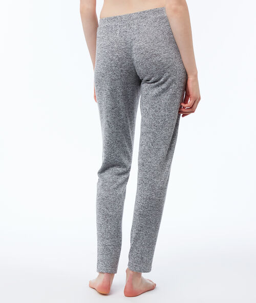 Pantalón largo jaspeado
