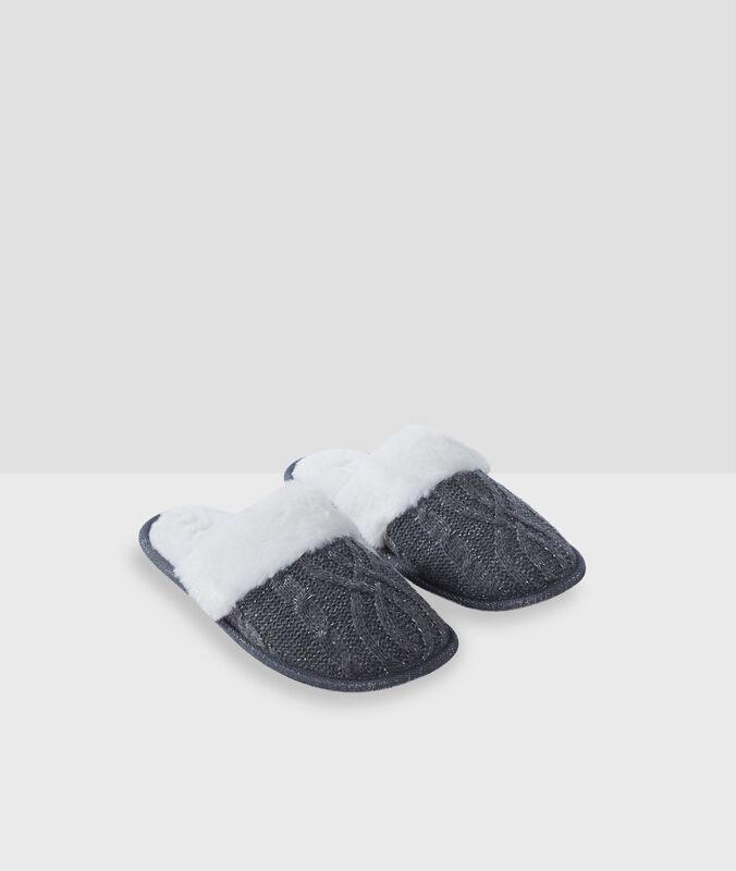 Zapatillas fibras metalizadas c.gris.