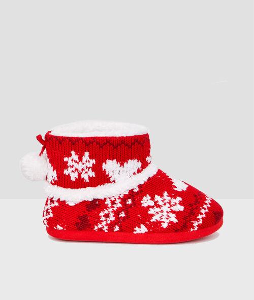Botines estampado navideño