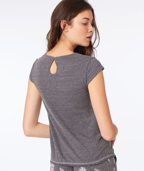 Camiseta estampado pájaro