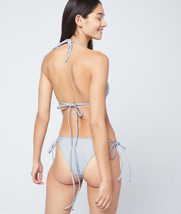 Sujetador bikini triangular, suave relieve;${refinementColor}