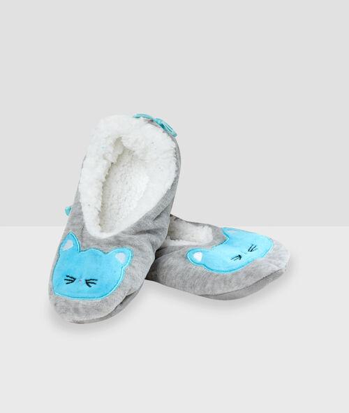 Zapatillas con forro gato