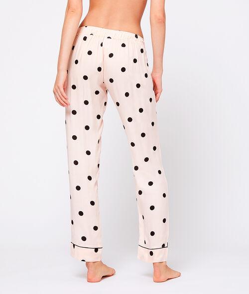 Pantalón pijama estampado de lunares