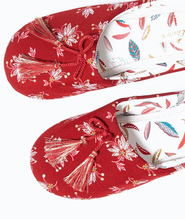 Zapatillas destalonadas estampadas