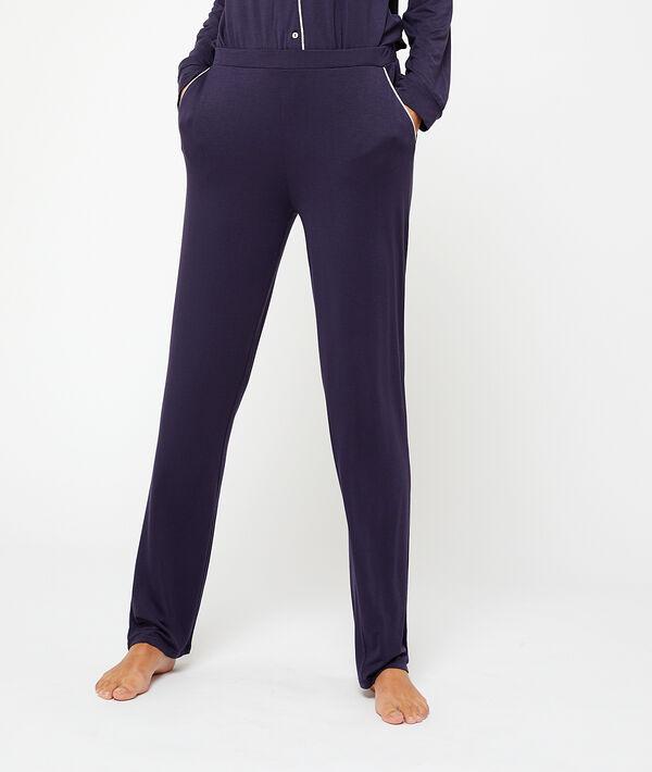 Pantalón liso de viscosa