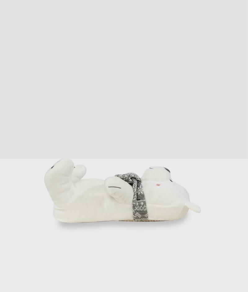 Zapatillas tejido peluche oso;${refinementColor}