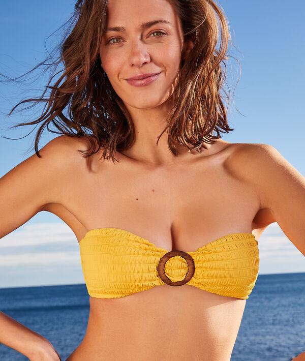 Sujetador bikini bandeau, suave relieve;${refinementColor}