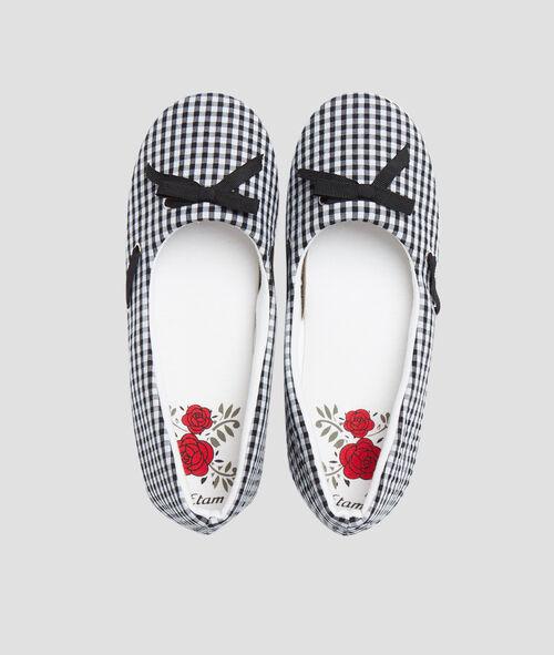 Zapatillas estampado vichy