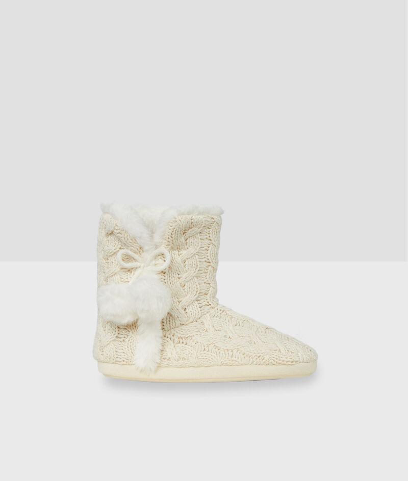 Zapatillas tipo botines tricotadas;${refinementColor}