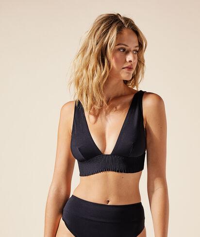 Top bikini triángulo, copas extraíbles;${refinementColor}