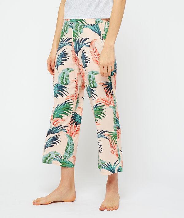 Pantalón pijama estampado de viscosa eco;${refinementColor}