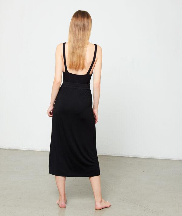 Falda larga ajustada en la cintura;${refinementColor}