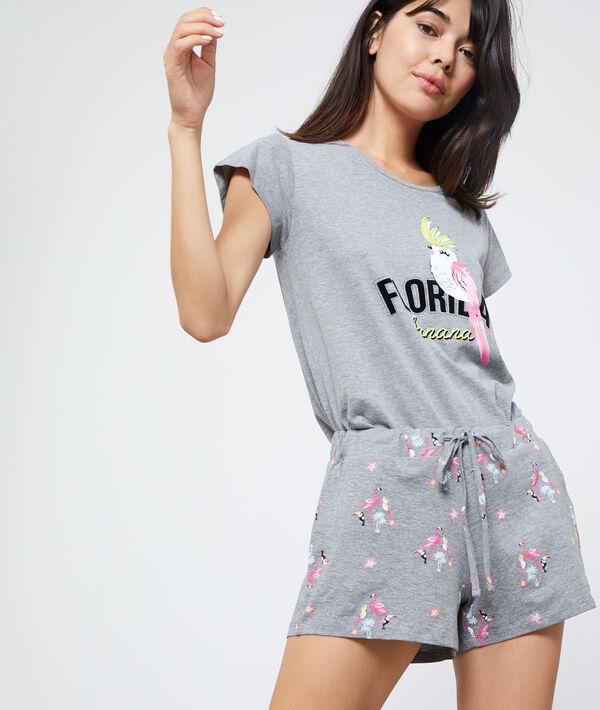 Pantalón corto estampado flamencos