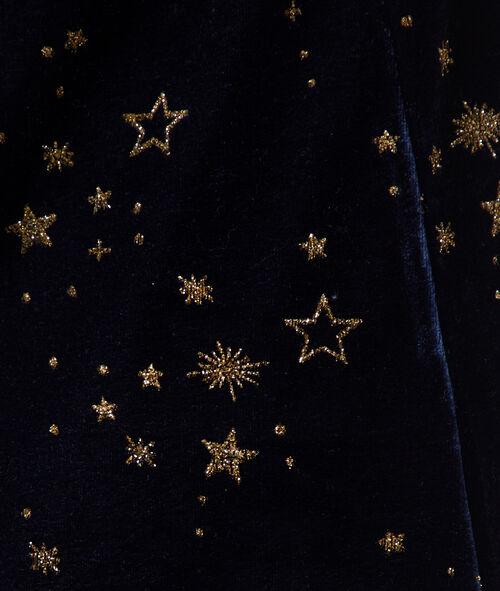 Camisón de terciopelo estampado estrellas