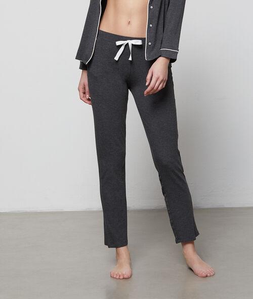 Pantalón largo franja contrastada