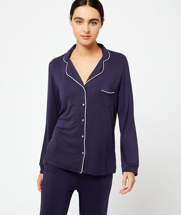 Camisa pijama de viscosa;${refinementColor}