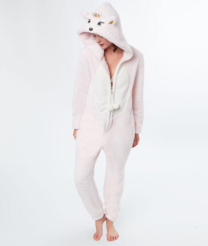 Mono tejido peluche ciervo rosa.