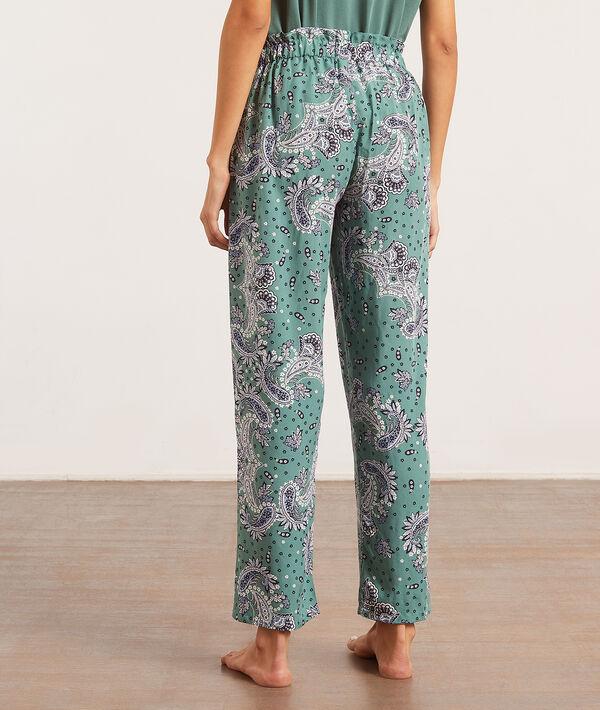 Pantalón pijama estampado bandana;${refinementColor}