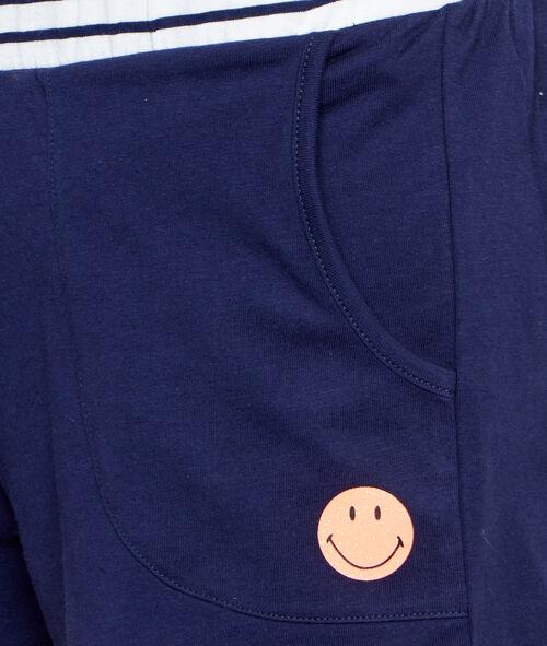 Pantalón corto smiley