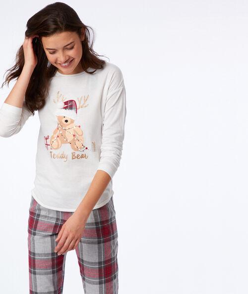 Camiseta manga larga motivos navideños